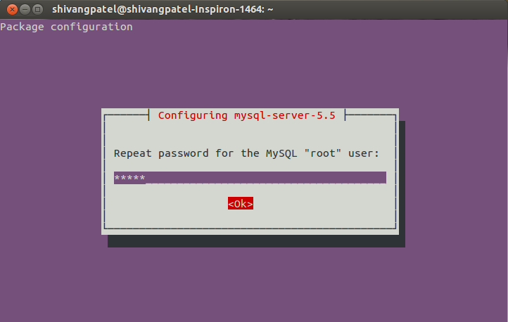 how to change password of mysql in linux